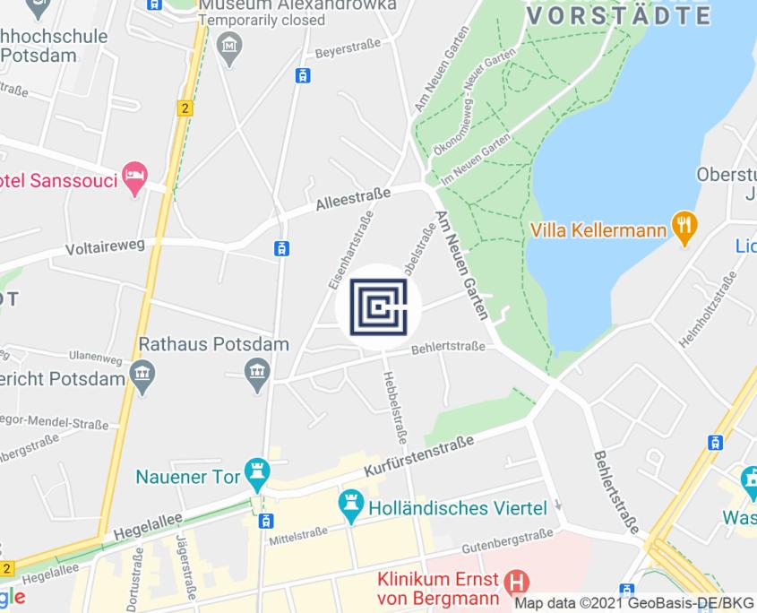 Google Map - BTB Steuerberatungsgesellschaft mbH NL Potsdam, Hebbelstraße